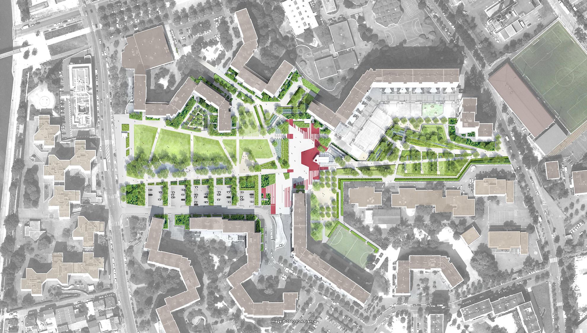 Plan masse du Parc du Franc-Moisin
