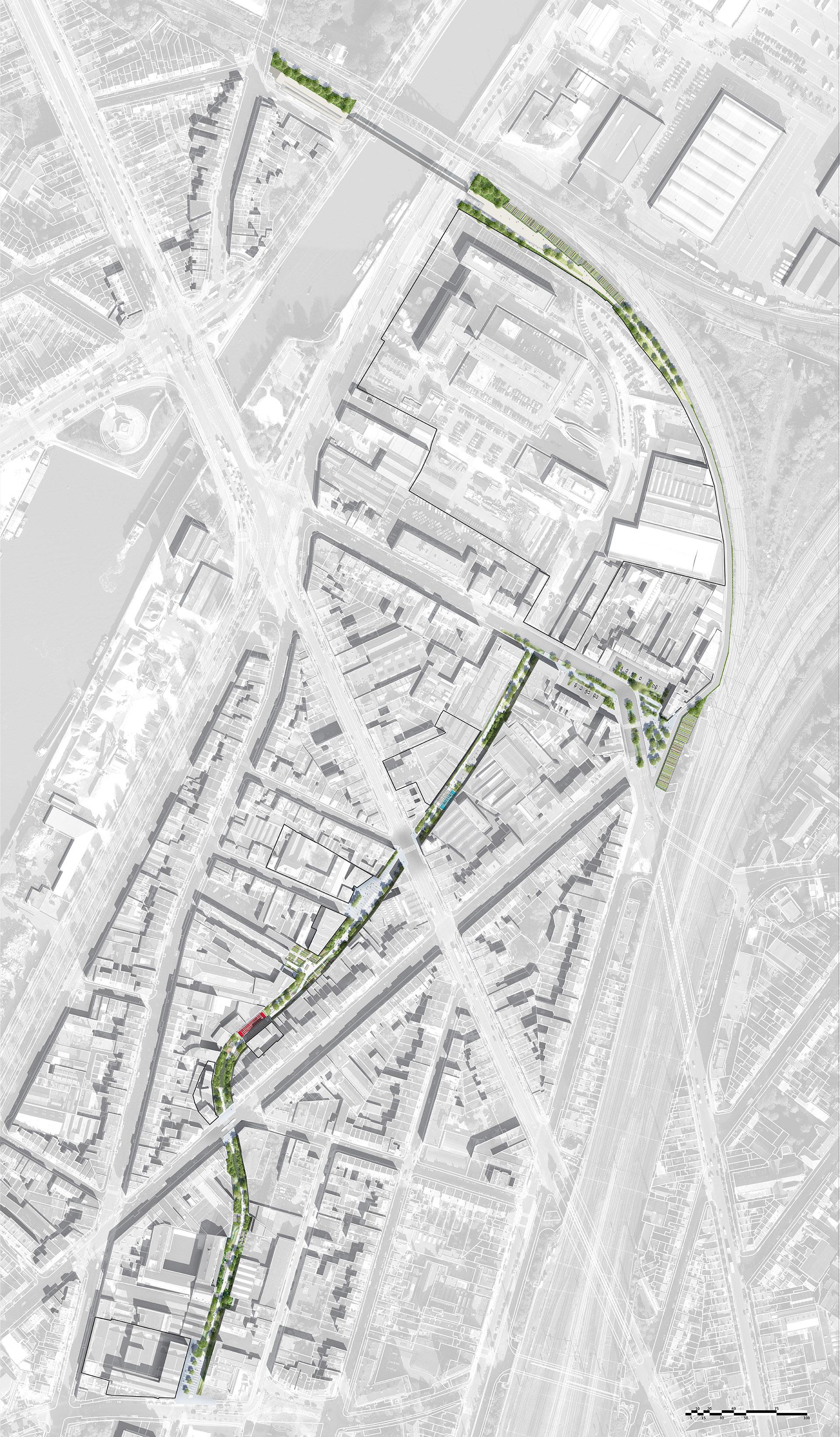 Plan masse du Parc de la Senne