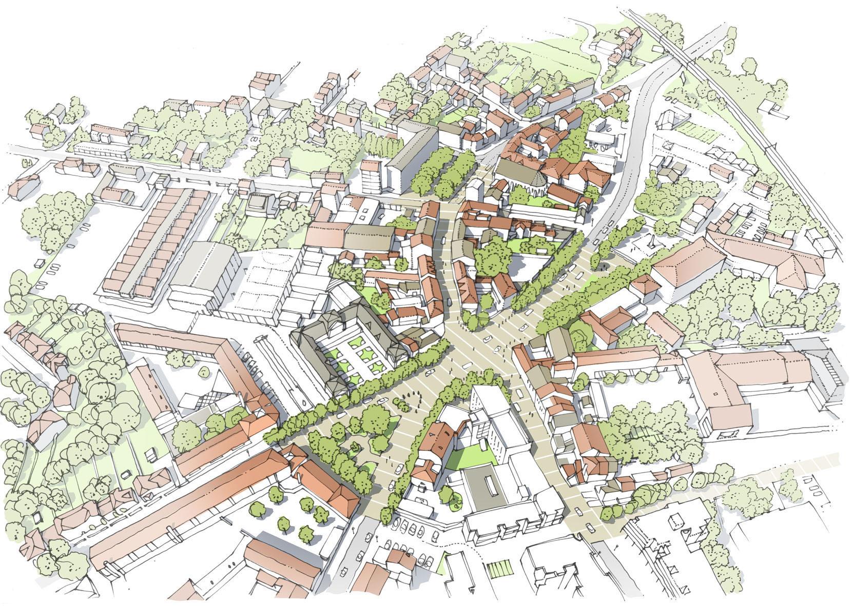 Proposition de reconquête des espaces publics du centre de Stains : Espace public partagé