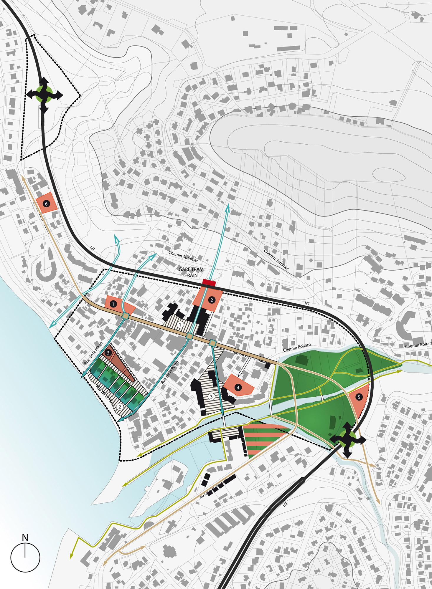 Orientations urbaines aux aménagement du centre-ville de Saint-Gilles